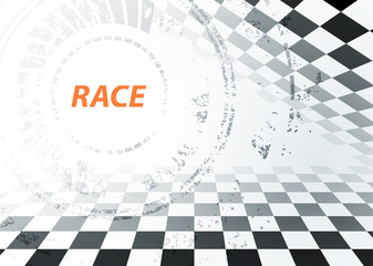 Racing sport background, vector illustration abstraction in car track