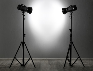 Photo studio with lightning equipment