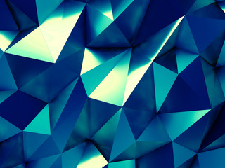 Blue Business Abstract Background 3D Rendering