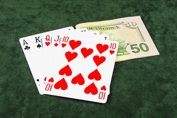 On the green baize poker is bet and five cards
