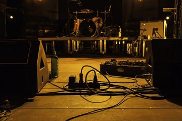 Cables at a rock concert