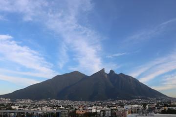 An iconic mountain in Monterrey Mexico