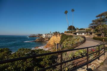 Heisler Park garden along the coast of Laguna Beach, California