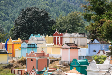 Colorful cemetery of Chichicastenango.