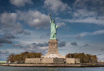Front view of the Statue of Liberty, New York
