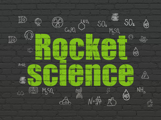 Science concept: Rocket Science on wall background