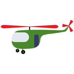 Toy  green helicopter