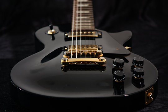 Close up of electric guitar