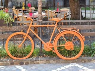 old orange bike