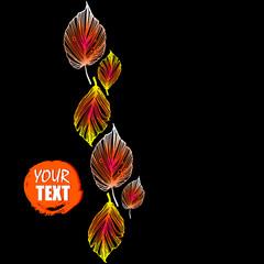 autumn, fall, season, vector, design, nature, background