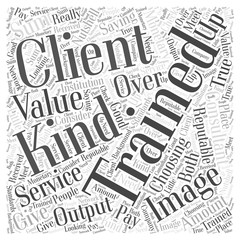 choosing your image consultant training Word Cloud Concept
