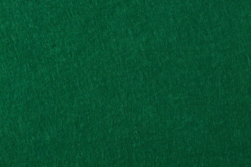 Poker table felt background in green color.