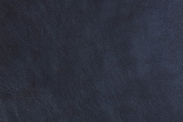 Abstract blue natural leather texture.