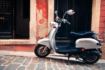 Scooter In The Streets Of Piran