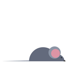 vector mouse illustration rat gnawing loves cheese