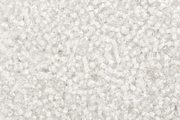 Many snow seed beads backgrouond.