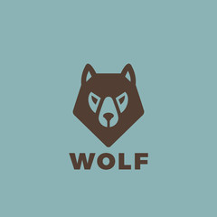Wolf head Logo design. Vintage Dog animal element badges posters