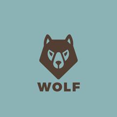 Wolf head Logo design. Vintage Dog animal element badges posters