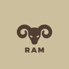 Ram head Logo design. Vintage animal element for badges posters