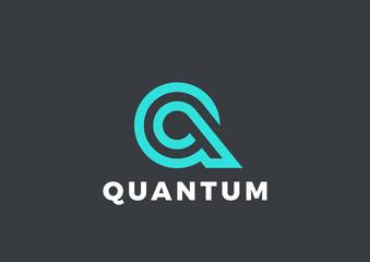 Letter Q Logo Luxury design Linear. Type Character Symbol