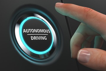 Button Autonomous Driving - Hand