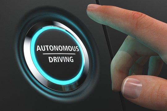 Button Autonomous Driving - Hand