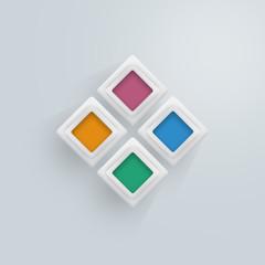 infographic abstract 3d rectangular
