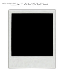 Vector Retro Photo Frame. Photo Realistic Vector of Classic retro Photo Frame. Blank for Copy Space.
