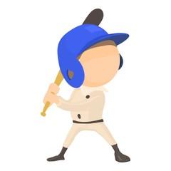 Waving player icon, cartoon style
