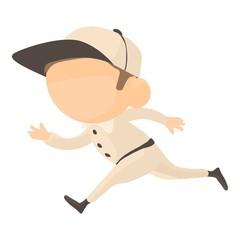 Running player icon, cartoon style