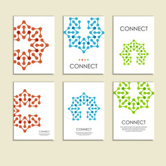 Abstract connect figure on brochure template