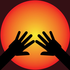 hands silhouette illustration
