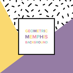 Memphis background design