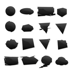 shape set black icons