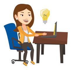 Successful business idea vector illustration.