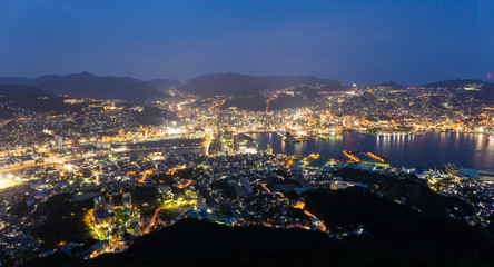 Nagasaki at night