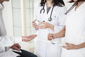 Doctors prescribe medicine for men