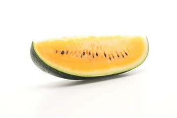 fresh yellow watermelon on white