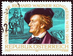 Richard Wagner and Scene from Opera Lohengrin (Austria 1986)