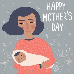 Cute illustration for mother's day.