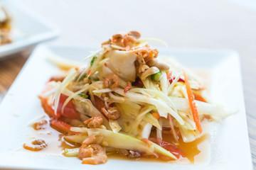 Thai Style Papaya Salad with Satled Eggs