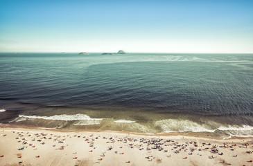 People relaxing on Ipanema Beach, Rio De Janeiro, Brazil