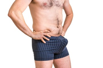 Attractive man with big penis inside underwear