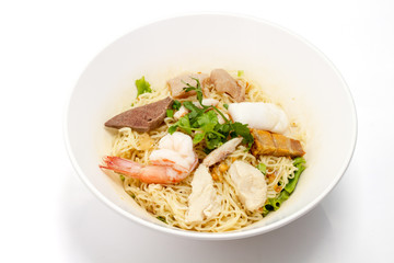 Chinese Stir Fry Noodles isolated