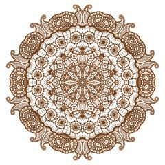 Round brown mandala.