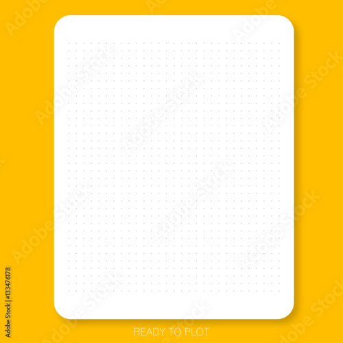 Ready To Plot Dot Pattern On The White Plain Paper With Yellow