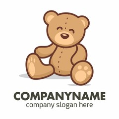Teddy Bear logo icon vector template