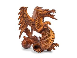 Toy wood dragon