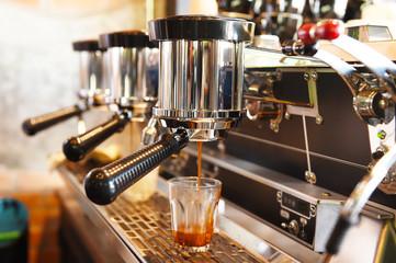 coffee machine preparing cup of coffee.