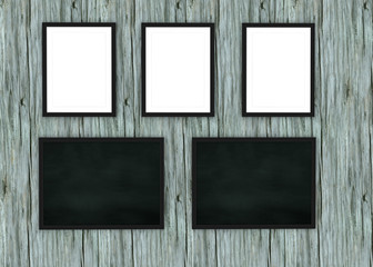 3D Picture frame design on wall background. Perfect for your presentations. Texture for educational or business background.